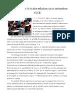 Mexico tiene rezago de 65 años en lectura y 25 en matematiticas.doc