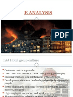 Taj Hotel Group culture case analysis