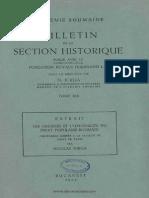 Les Origines Et l'Originalité Du Droit Populaire Roumain Conférence Donnée à La Faculte de Droit de Paris