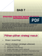 Strategi Masuk Ke Pasar International