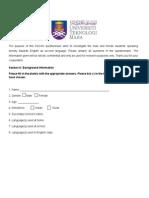 Teacher Nadzirah's Questionnaire