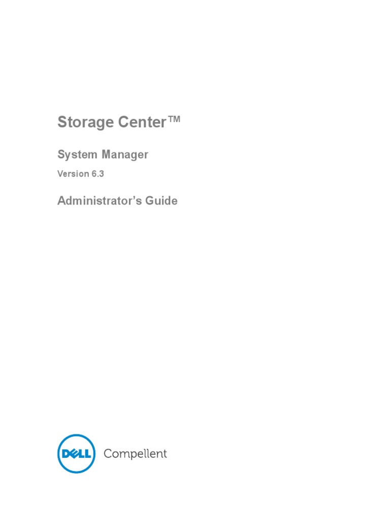 Dell Compellent Storage Center Configuration Guide   Glycated