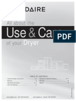 Frigidaire Affinity Dryer Complete Owner's Guide 137337100een