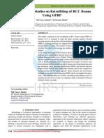 Experimental Studies on Retrofitting of RCC Beams Using GFRP
