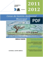 Censo de Gestion Ambiental Municipal 2011-2012, Fuente SEN, InE