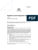 NSW DECWA - Radiation Control Regulation (2013)