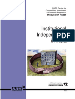 Institutional Independence in India
