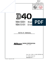 Nikon d40 Repair Manual