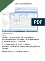 Baze de Date Exemple Interogari SQL