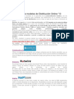 Nuevos Modelos de Distribución Online