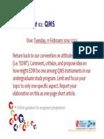 QMS Assignment 02