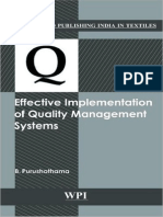 Effective Implementation of Quality Management Systems (0857090011)