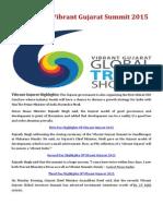 Latest News India, Vibrant Gujarat Summit 2015