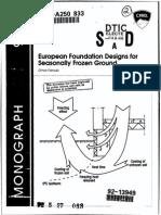 European Foundation Design for Seasonally Frozen Ground