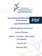 AD EHS RI - CoP - 40.0 - False Work (Formwork)