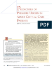 Predictors of pressure ulcers in adult critical care patients