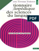 Ducrot Et Todorov - Dictionnaire Encyclopédique Des Sciences Du Langage