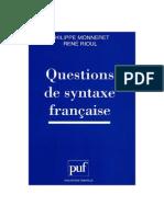 Monneret Et Rioul - Questions de Syntaxe Française