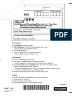 Edexcel GCE Chemistry Unit-5 January 2013 Question Paper