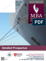 Broshure MBA in Shipping and Logistics 2014
