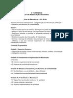 Ementa Organização e Manutenção