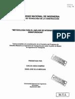 Metodología Para El Análisis de Intersecciones Semaforizadas 0711 TTE-N