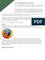 Tipos de Navegadores Para Internet y Toda La Web
