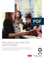 CIMA Syllabus Update Guide
