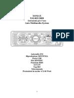 XOMAX XM RSU208B Manuale Di Instruzioni Italiano