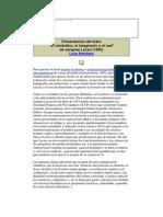 Acheronta 24 - Inconsciente y Transferencia - Presentación de Texto El Símbólico, El Imaginario y El Real de Jacques Lacan