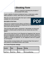 The Course Booking Form