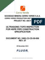 PROCEDIMIENTO DE INSPECCION POR TOFD EN TUBERIA DE HDPE