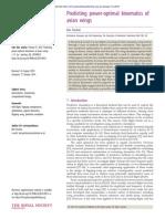 Predicting power-optimal kinematics of avian wings20140953.full