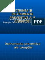 Noţiunea Şi Instrumente Preventive Ale Corupţiei