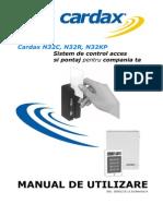 Manual de Utilizare Sistem de Control Acces