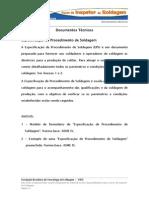 Modelos de documentos de soldagem FBTS