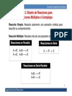 TEMA 3 diseño de reactores para reacciones multiples