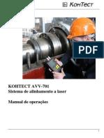 Manual Alinhador de Eixos a Laser AVV-701