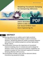 Modeling Viscoelastic Damping for Dampening Adhesives