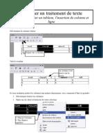 fiche 03 - tableau, insérer colonne et ligne