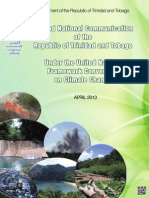 Second National Communication of the Republic of Trinidad and Tobago under the United Nations Framework Convention on Climate Change (2013)