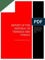 Report of the Repubic of Trinidad&Tobago