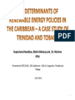 The Determinants of Renewable Energy Policies in the Caribbean - A case study of Trinidad and Tobago (2014)