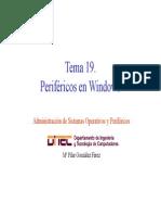Perifericos en windows