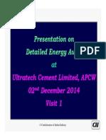 Visit 1 Presentation, DeA @ UTCL APCW Tadipatri