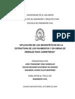 Aplicacion de Los Geosintéticos en La Estructura de Los Pavimentos y en Obras de Drenaje Para Carreteras (1)