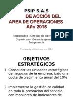 Plan de Acción Operaciones Psip 2015