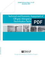 ESMAP, Technical and Economic Assessment of Off-grid, Minigrid and Grid Electrification Technologies, 12-2007