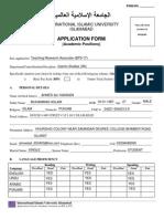 Application Form Academic 151214