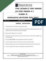 SAT Paper for NTSE Aspirants